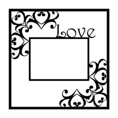 Love Scrapbooking Die Cut Overlay