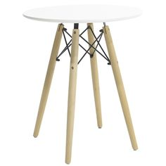 Round table Julita MDF top white F60 Tripod Lamp, Tables, Furniture, Top, Collection, Home Decor, Black, Mesas, Decoration Home