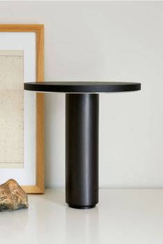 Radient Table Lamp Black - Minimal and human, expressive yet subordinate. Pairing wood and metal in a geometrically reduced form is rooted in the iconic language of RBW.   Made in USA - UL Damp Location, RoHS