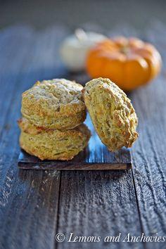 Pumpkin Cheddar Scones via @Jean | Lemons and Anchovies