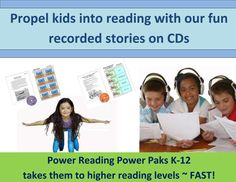 Power Reading Power Paks K-12 are a great alternative if you don't have access to a computer for our Power Reading Online program! All our Power Pak stories are recorded using Dr. Marie Carbo's special pacing and phrasing! Power Paks works fast because your struggling readers can hear each word as they read along with the stories! Kids love our stories and have so much fun playing our comprehension games that are available for eacj of our Power Paks!
