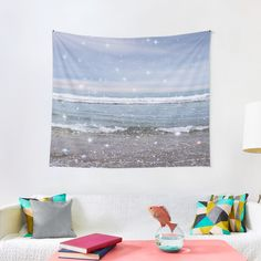 """""""Dreamy Ocean Waves Sparkly Aesthetic"""" Tapestry by ind3finite 