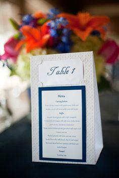Menu Table Numbers