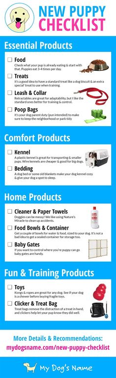 Use this helpful checklist when shopping for your new puppy!