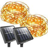 [2 Packs]Homestarry Solar String LightsOutdoor Garden Waterproof LED String Lights8 Working Modes Cooper Wire... christmas deals week