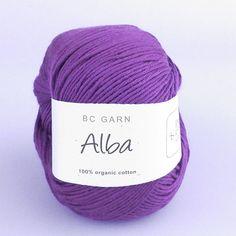 Alba - 100% økologisk garn fra BC garn, der dyrkes, spindes og farves på en miljømæssig bæredygtig måde! :-) Find garnet her: http://hobbii.dk/collections/alba-okologisk-garn