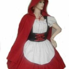 Little Red Riding Hood Halloween Costume Dress and Cape - MGD Clothing