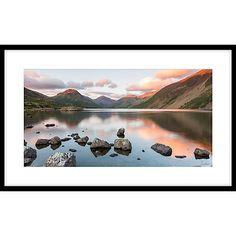 Buy James Bell - Peaceful Lake Framed Print, 64 x 104cm Online at johnlewis.com