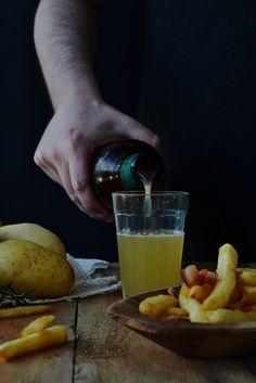 Cerveja e batatas