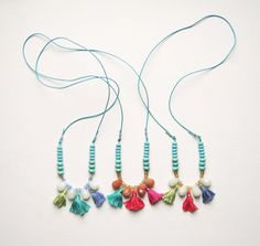 Color Tassel Necklaces via Etsy.