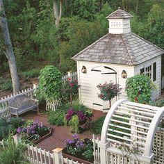 Love the Idea ~ Enclosed Garden ~ Bat Houses in Cupola Instead?