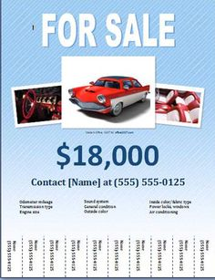 Car For Sale Flyer Car Sales Marketing Brochure Httpwww.postermywallindex.php .