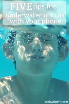 Really good tips to taking photos underwater using just your phone!!