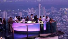 This is what I call a roof top bar...SkyBar at State Tower, Bangkok.