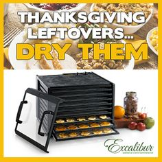 Why not dehydrate your #Thanksgiving leftovers?  Put your Excalibur Dehydrator to use this #Holiday #Season!