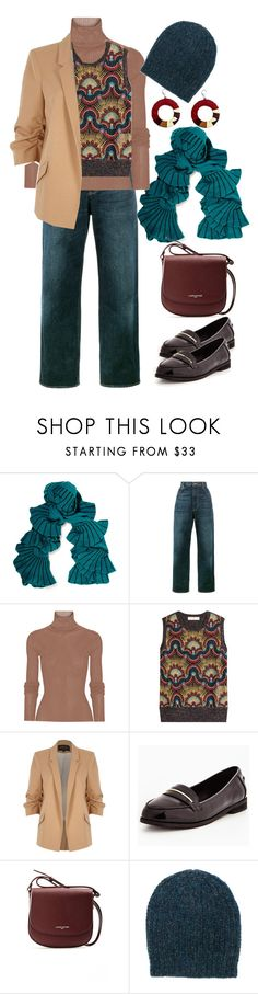 """Без названия #114"" by o-ksimm ❤ liked on Polyvore featuring Magaschoni, Golden Goose, TIBI, Valentino, River Island, Lancaster and Isabel Marant"
