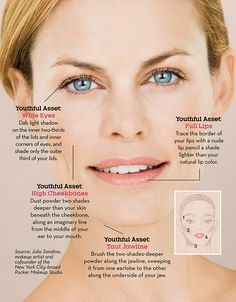 4 Makeup Tricks That Make You Look Younger In Seconds http://www.prevention.com/beauty/makeup-tips-look-younger