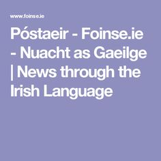 ie - Nuacht as Gaeilge Irish Language, House Cleaning Services, Clean House, Dublin, Teaching, News, School, Education, Onderwijs