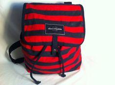 Abercrombie Kids New York Stripped Bookbag Backpack Red & Blue
