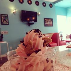 Pink grapefruit sorbet from our customers at Blue Boy Frozen Yogurt in Canada.