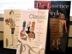 books to read.... 1. Classic Fashion (The Classic Ten: the story of the Little Black Dress and Nine Other Fashion Favorites by Nancy Macdonell Smith) 2. Coco Chanel (The Gospel According to Coco Chanel: Life Lessons From the World's Most Elegant Woman by Karen Karbo) ...& 3. French Style (The Essence of Style: How the French Invented High Fashion, Fine Food, Chic Cafes, Style, Sophistication, and Glamour by Joan DeJean)