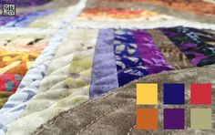Up close detail of Fire&Ice quilt by Lonni Rossi