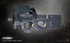 FN P90, 3DS MAX, Weapon Art, Game, Texture, Hard Surface, Assets, Props, Gaming, Low Poly, High Poly, Wireframe