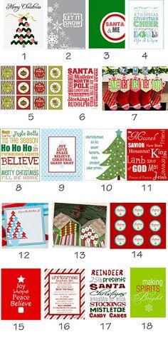 LOTS of Free Christmas Printables!