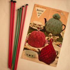 Vintage Knit Pattern PDF 074 3 Chunky Tea Cosies from WonkyZebra by wonkyzebra for $3.00