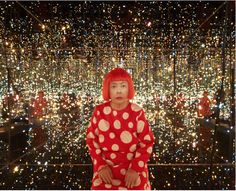 Yayoi Kusama (b. 1929), Fireflies on the Water, 2002. Mirror, plexiglass, 150 lights and water, 111 × 144 1/2 × 144 1/2 in. (281.9 × 367 × 367 cm) overall. Whitney Museum of American Art, New York; purchase, with funds from the Postwar Committee and the Contemporary Painting and Sculpture Committee and partial gift of Betsy Wittenborn Miller 2003.322a-tttttttt. © Yayoi Kusama. Photograph by Jason Schmidt