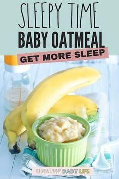 Help baby sleep with this delicious baby food recipe. This oatmeal has lots of g… Help baby sleep with this delicious baby food recipe. This oatmeal has lots of g… – Baby food – Toddler Meals, Kids Meals, Toddler Food, Baby Meals, Healthy Baby Food, Food Baby, Healthy Sleep, 8 Month Old Baby Food, Baby Food Recipes Stage 1