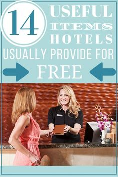14 Useful Items Hotels Usually Provide for Free | Need to Know Travel Hacks | Money Saving Tips for Travelers | Frugal Living Ideas