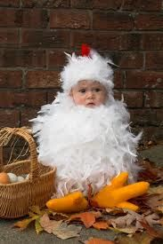 baby wearing costume - Easter chicken