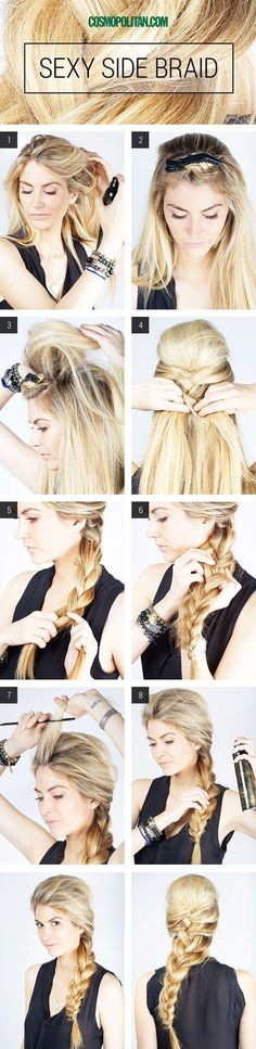 Side braid tutorial. #hair #braid #diy #tutorial PoPular Haircuts ---> http://pophaircuts.com/18-simple-office-hairstyles-for-women-you-have-to-see
