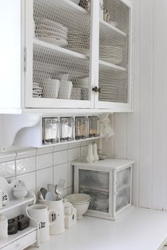 love the drawers for baking ingredients and wire in the cabinets...opens up a small kitchen.