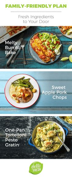Proudly place these delicious family-friendly meals on the table. Choose from meat, fish, and veggie recipes that serve 2 adults and 2 children. At just $8.74 a meal, this is an affordable way to make dinnertime as simple as it is delicious. Get 50% off your first box at hellofresh.com.