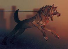 Dog Mysticism Terrible Horror Rage Anger Freedom for thirst Slavery Art  Собака Мистика Жутко Ужасы Злость Ярость Жажда свободы Невольность Арт