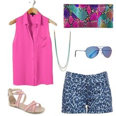 """Pretty in Print"" (and pink, too!) #summer #fashion #style"
