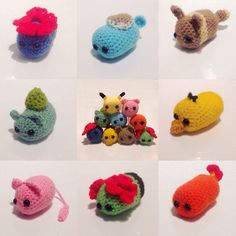 Tsum Tsum inspired Pokemon. Cute and stackable available to buy on my etsy  Vileplume, Squirtle, Eevee, Bulbasaur, Pikacku, Psyduck, Mew, Bellossom, Charmander
