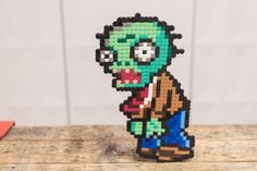 Plants vs. Zombies - Zombie Minion Hama Bead Perler 8bitbeads.com
