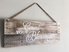 Count your blessings/wood sign/handmade/home decor
