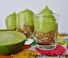 Raw Key Lime Pie Shooters