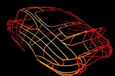 Wired for Beauty: Sculptures Capture Car's Essential Lines