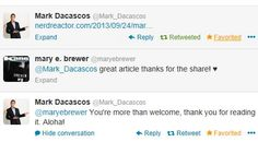 Woo Hoo.. got this tweet today 9-24-2013 from Mark.. how coooooool  ( i am  @ mary e brewer but name is altogether  on twitter)  this is the link to the article he mentions http://nerdreactor.com/2013/09/24/mark-dacascos/