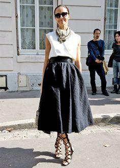 Street style: tea length hem