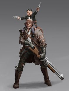 ArtStation - Stefan Koidl's submission on Wild West - Character Design Character Base, Character Concept, Concept Art, Character Design, Steampunk Characters, Sci Fi Characters, Fantasy Rpg, Dark Fantasy, Apocalypse World