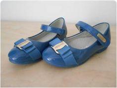 Dětské dívčí baleríny modré VEL 27 z bazaru