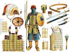 Panoplia guerrero mameluco a mediados del siglo XIII.
