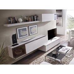 Rimobel Modern Wall Storage System Display Cabinets and TV Unit Dining Room Furniture, Furniture Design, Wall Storage Systems, Tv Unit, Modern Wall, Built Ins, Contemporary Furniture, Living Room, Display Cabinets