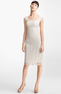 Dolce & Gabbana Floral Lace Sheath Dress